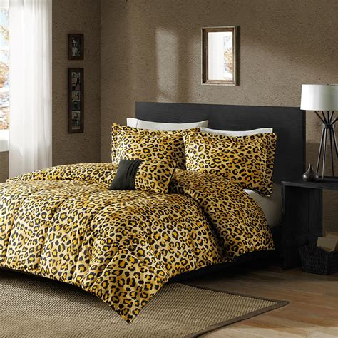 cheetah print bedroom set leopard bedding