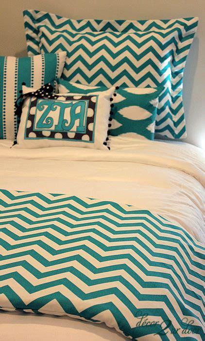 target college bedding turquoise chevron designer dorm room bedding set dorm