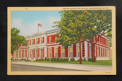 Post Office Parkersburg Wv by 1930s Post Office Parkersburg Wv Wood Co Postcard West