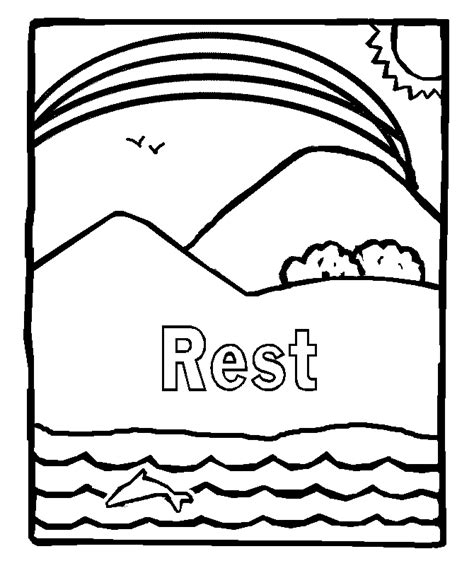 Day 7 Coloring Page by The Seventh Day After God Created The World In Six Days