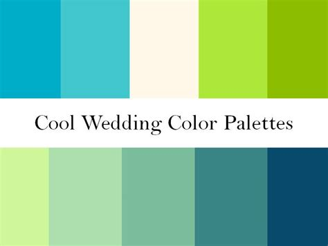 blue green colors cool wedding color palettes of green blue and teal