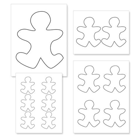 small printable gingerbread man gingerbread man outline cliparts co