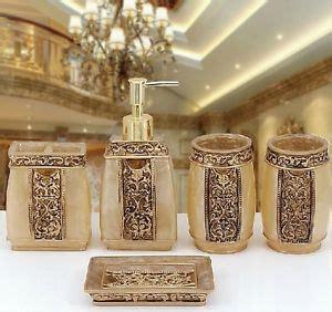 gold effect bathroom accessories gold bathroom accessories ebay