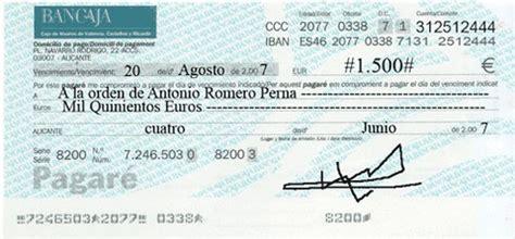pagare conformado por el banco pagar 233 s
