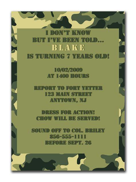 camouflage invitation template camo wedding invitation printable free