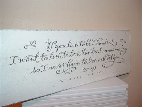 shabby modern chic winnie the pooh quote plaque sign