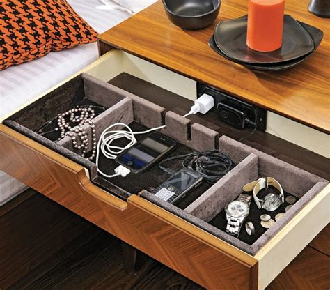 Bedside Table Charging Station by Elia Nightstand With Power Dock Crnchy