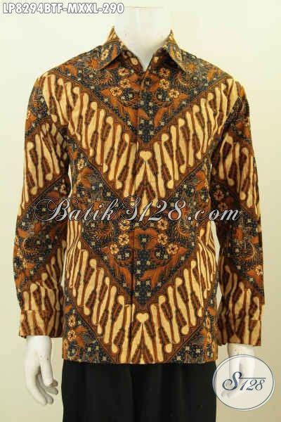 Kemeja Kombinasi Tulis Furing Ukuran M Kemeja Batik Lengan Panjang Size M Pakaian Batik Mewah