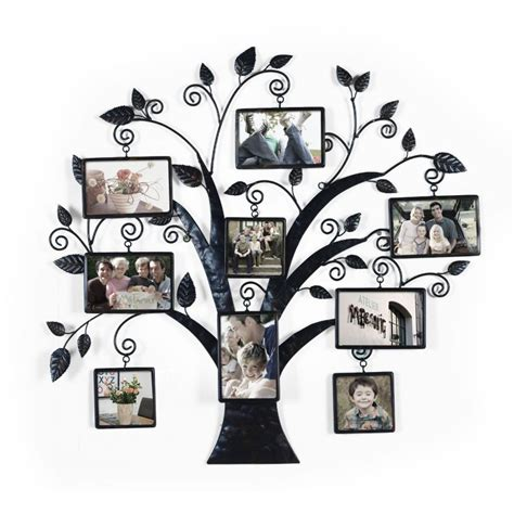 9 piece family tree wall photo frame set hanging frames picture home decor gift ebay family tree picture frame arrangement ideas