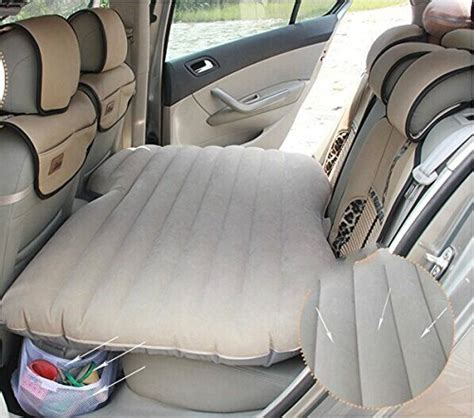 back seat blow up bed beige car travel inflatable sleep air bed auto back seat