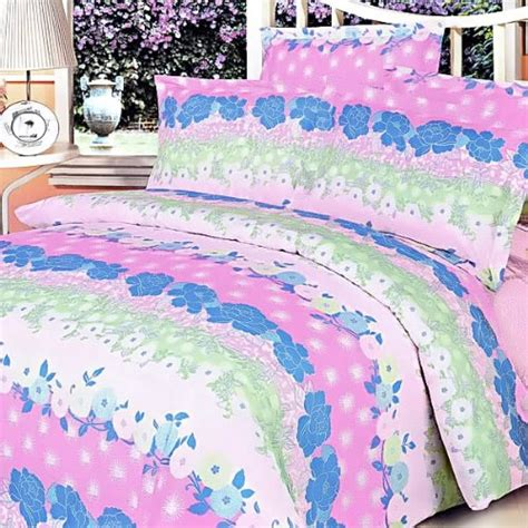 blancho bedding blancho bedding pink kaleidoscope luxury 7pc bed in a bag combo 300gsm king size