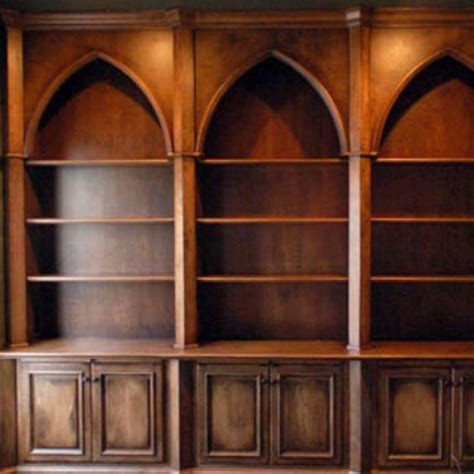 crafted style bookcases with distressed finish