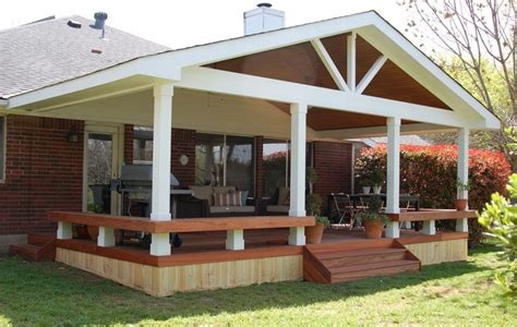 covered porch design concrete patio ideas fire pit landscaping gardening ideas