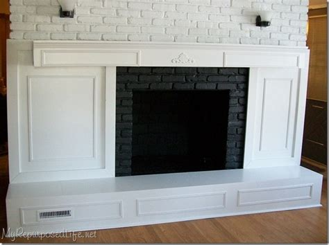 brick fireplace makeover my repurposed