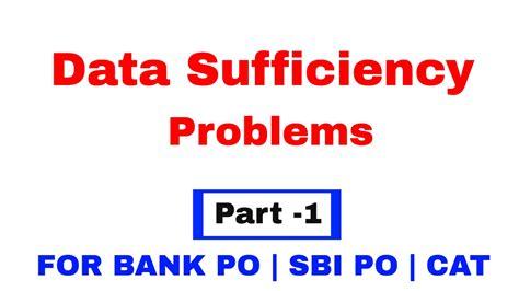 po bank data sufficiency tricks for bank po sbi po cat