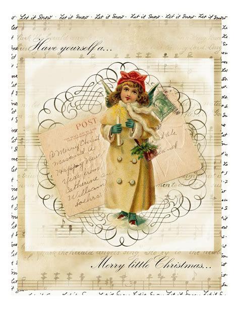 Printable Christmas Vintage | lilac lavender vintage christmas printable