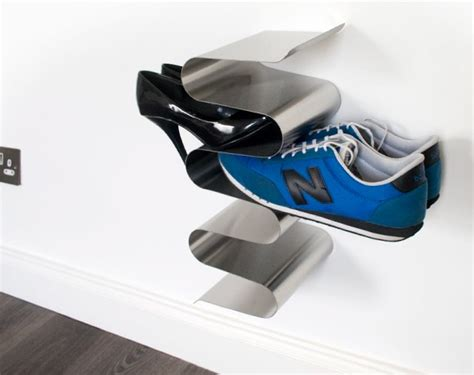 cool shoe storage vertical shoe rack wall mounted stainless steel vertical