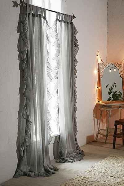 urban outfitters ruffle curtain plum bow ruffle gauze curtain i urban outfitters