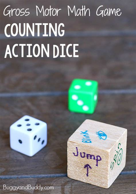gross motor actions gross motor math counting dice buggy and buddy