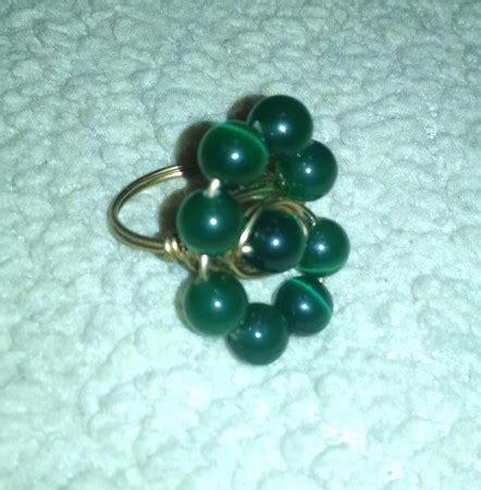 Handmade Beaded Rings - handmade beaded ring jewelry journal