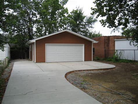 garage driveway design detached garage driveway st louis by benhardt construction remodeling