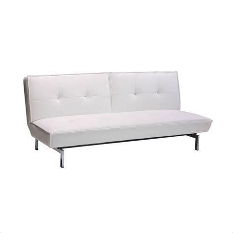 revolution leather convertible sofa in white 2003107