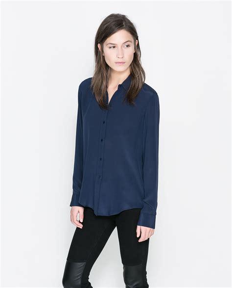Zara Brand New Blue Silk Dress Sz S Rrp 39 Party Wedding Ascot | zara silk shirt in blue dark blue lyst