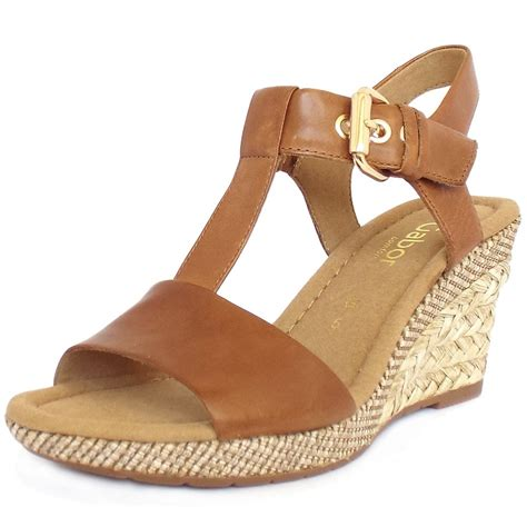 gabor s woven effect wedge sandals in