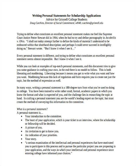 Scholarships Essay Sles by Personal Statement For Scholarship Sle Essays 28 Images Personal Statement Essays For