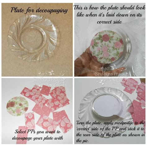 Clear Glass Plates For Decoupage - crafters corner decoupaging a glass plate
