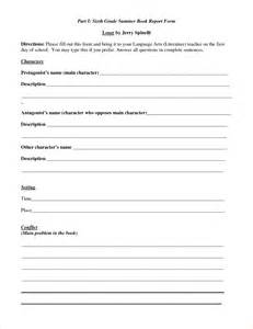 Grade Book Report Template 5 book reports for 6th gradereport template document