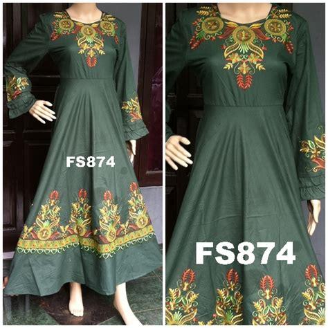 Maxi Nayla Dress Gamis Hijabers Busana Muslim fs874c fika shop