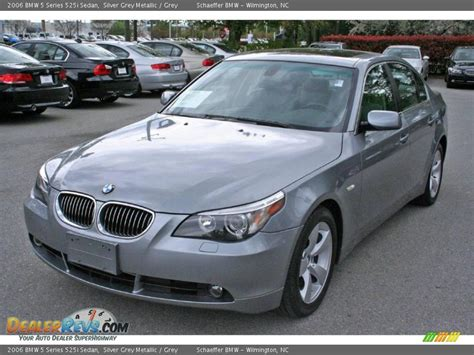 525i bmw 2006 2006 bmw 5 series 525i sedan silver grey metallic grey
