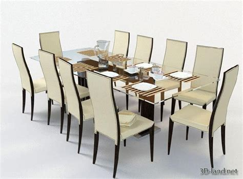 dining table and chairs 3d model free 187 dining