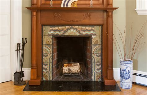 Deco Fireplace Tiles by Tile Mosaic Christopher Brody