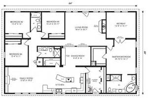 Modular Homes 4 Bedroom Floor Plans by Modular Home Plans 4 Bedrooms Mobile Homes Ideas