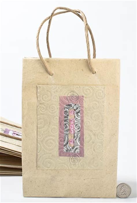 Handmade Paper Gift Bags - handmade paper gift bags set of 10 gift bags favor