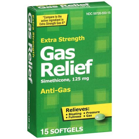 gas relief pl developments strength gas relief 125mg softgels 15ct diet nutrition
