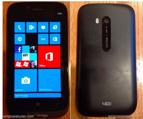 Nokia Lumia Verizon leak nokia lumia 822 live photo verizon and 4g lte