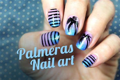 imagenes de uñas decoradas de tigre c 243 mo hacer dise 209 o de palmeras en las u 241 as paso a paso