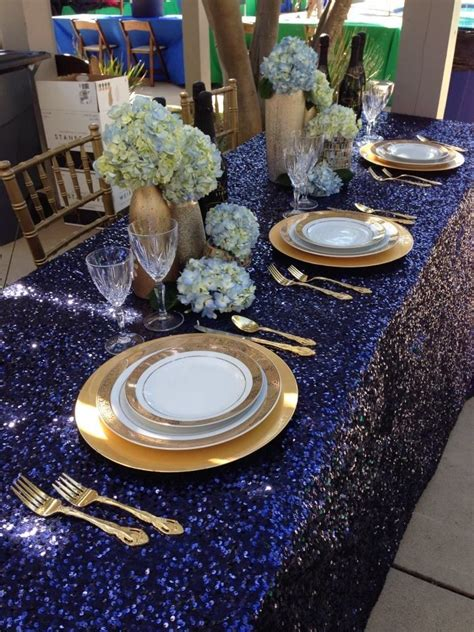 Navy Table L 25 Best Ideas About Sequin Tablecloth On Blush Chagne Wedding Sequin Clothing