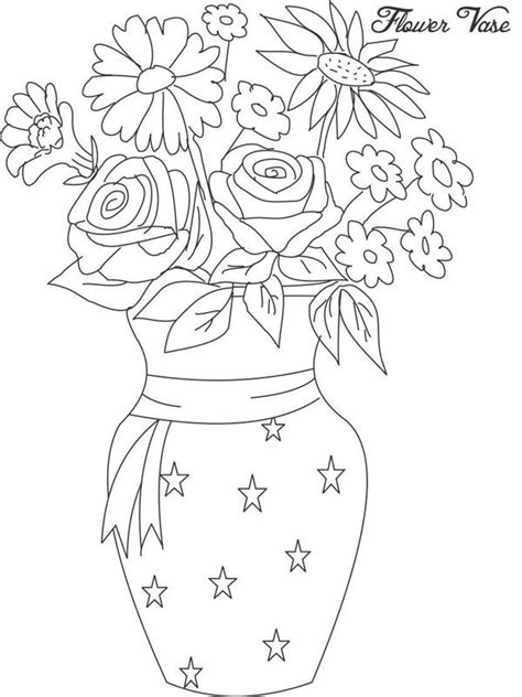 a flower s view coloring book for everyone books gallery beautiful flowers with vase for draw drawing
