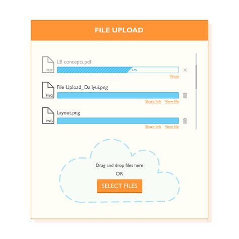 ui pattern file upload file upload ui design on behance