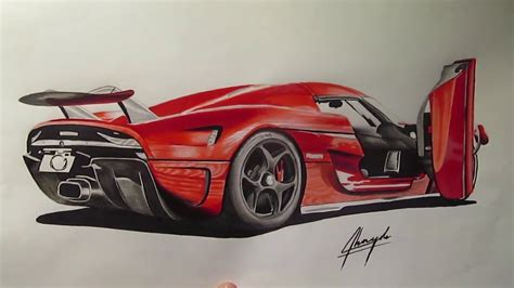 koenigsegg car drawing koenigsegg regera drawing youtube