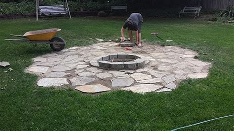 how to build a backyard fire pit with rocks hometalk building a backyard fire pit