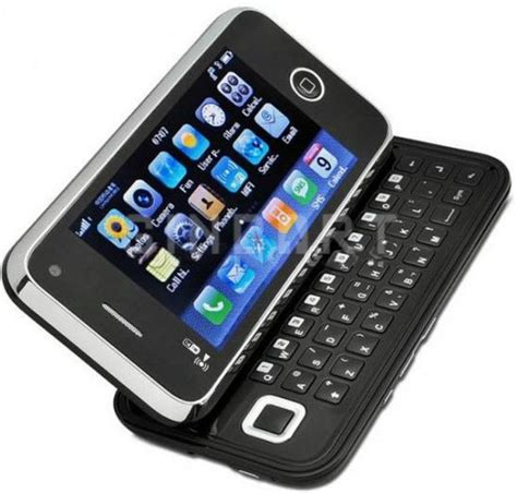touch screen mobile phones quadband 2 sim qwerty wifi tv slide touch screen mobile