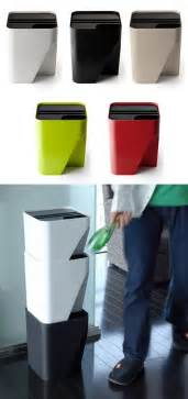 small recycling bins for kitchen qualy block stacking collection cans for space tight