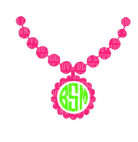 Jewelrys Silhouette Circle To Remind You Of Whats Important by Monogram Necklace Svg And Dxf Digital