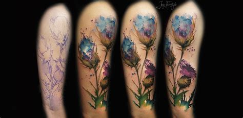 watercolor sleeve tattoo designs new watercolor tattooers of 2014 scene360