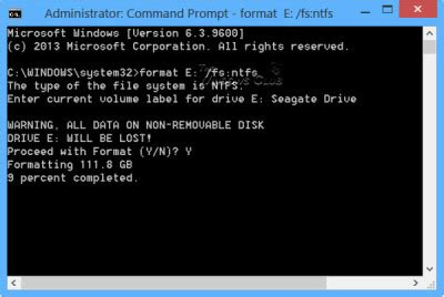 format hard disk by dos format drive or run check disk using cmd or command prompt